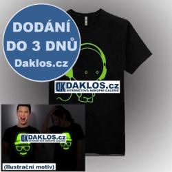 Noční světelné tričko / triko - Muzika DJ