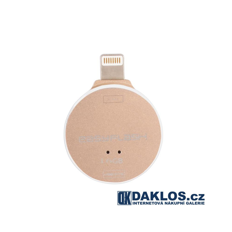 USB Flash disk OTG 16 GB pro IOS iPhone / iPad / iPod - kovová, Barva Černá DKAP074991