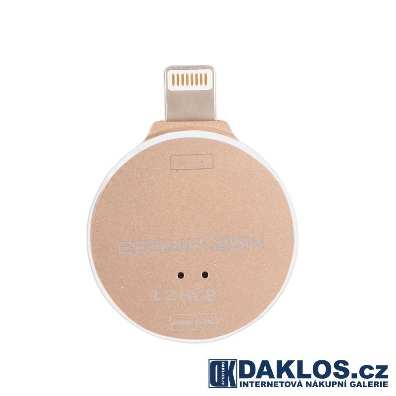 USB Flash disk OTG 128 GB pro IOS iPhone / iPad / iPod - kovová, Barva Černá DKAP074991