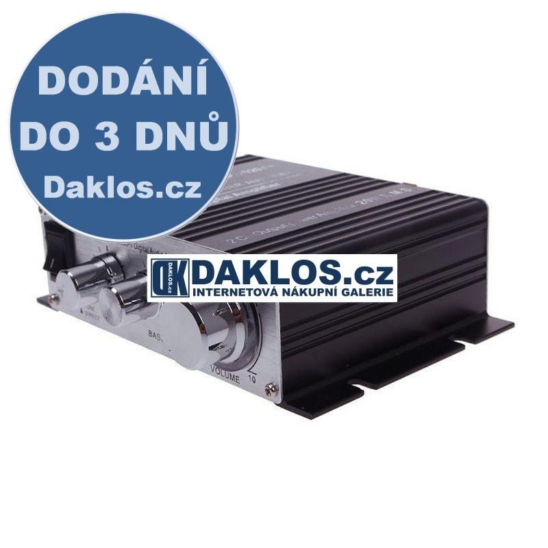 Mini zesilovač (2x20W) do auta, k počítači, MP3 DKAP043143