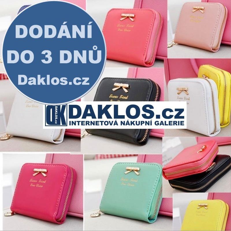 Dámská peněženka z PU kůže - více barev, Barva Černá DKAP047065