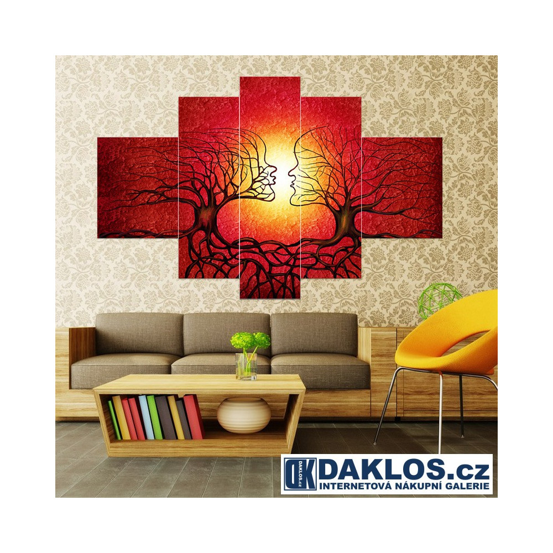 5x Obraz / Plátno / Plakát na zeď - Příroda / Láska / Stromy DKAP082567