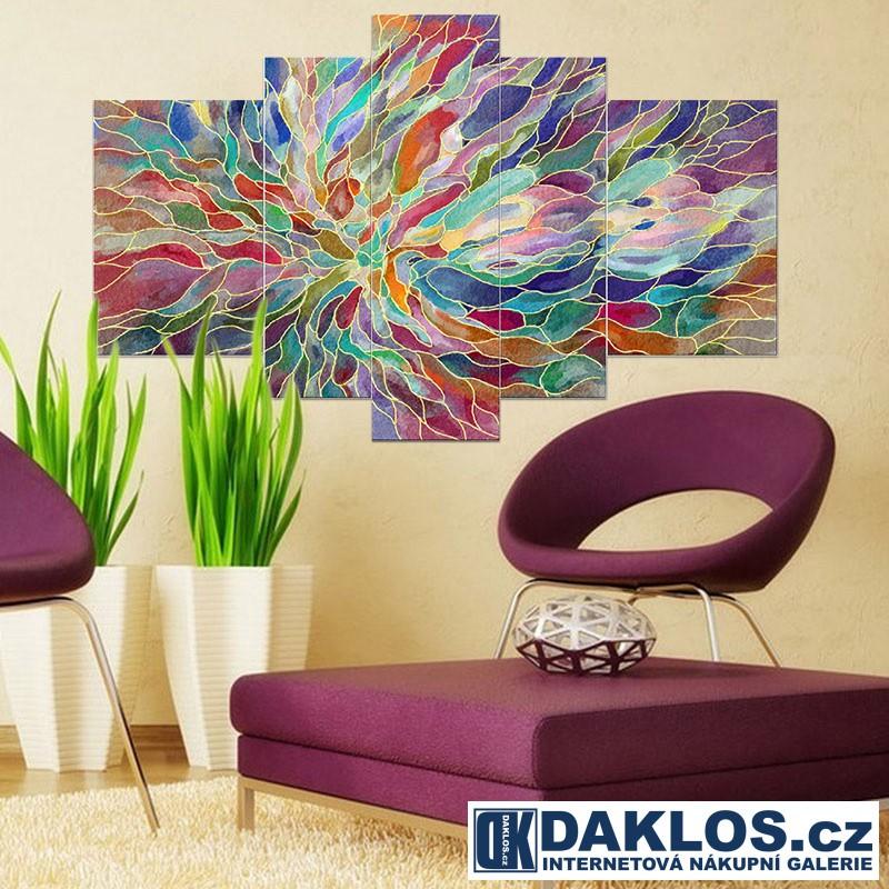 5x Obraz / Plátno / Plakát na zeď - Abstrakce DKAP082555