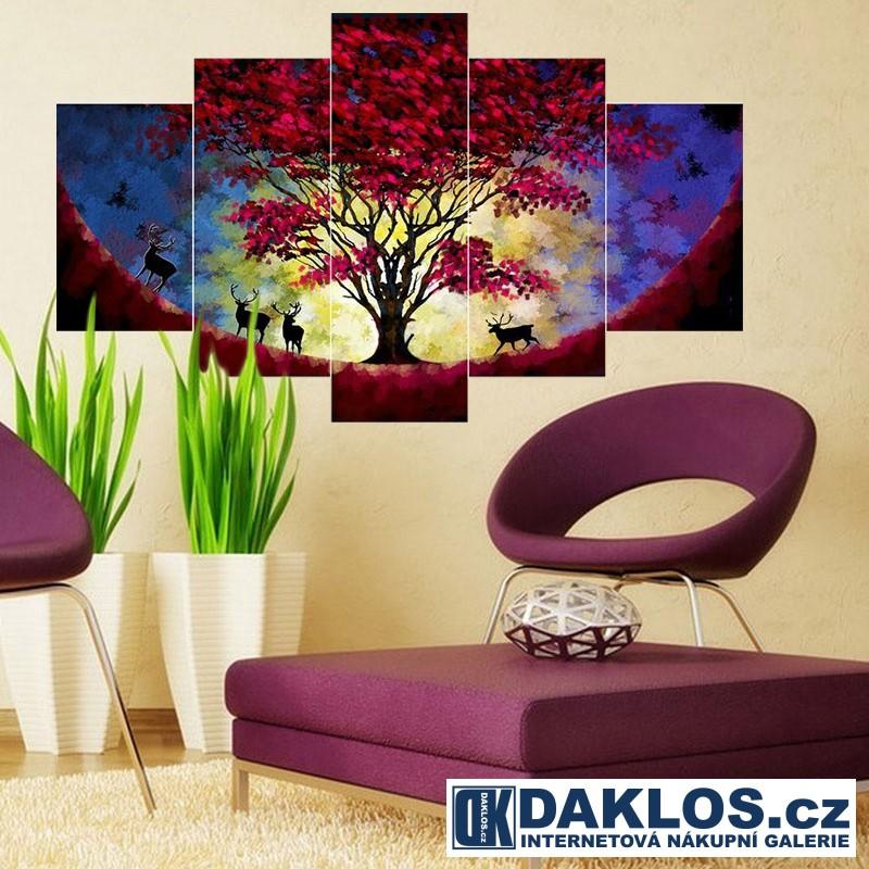 5x Obraz / Plátno / Plakát na zeď - Příroda / Strom DKAP082547