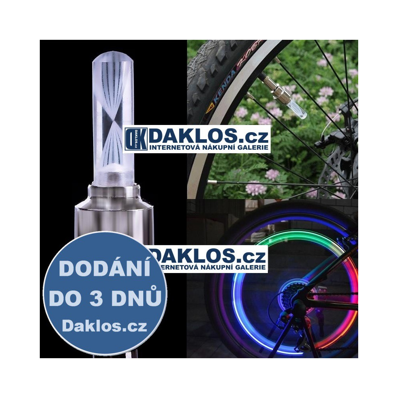 LED tyčinka / dekorace na ventilek na kolo / auto / motocykl DKAP054756