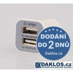 Nabíječka Adapter do auta 12V dual USB (2,1A + 1A)