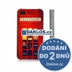 Plastový kryt červená telefoní budka pro Apple iPhone 5 5S SE