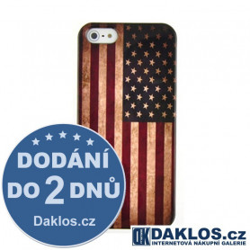 Plastový kryt s americkou vlajkou pro Apple iPhone 5 5S SE