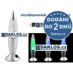 USB lávová lampa / Lava lampa - vícebarevná