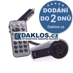 Bluetooth MP3 FM transmitter do auta / 12 V s dálkovým ovladačem / Hands-free