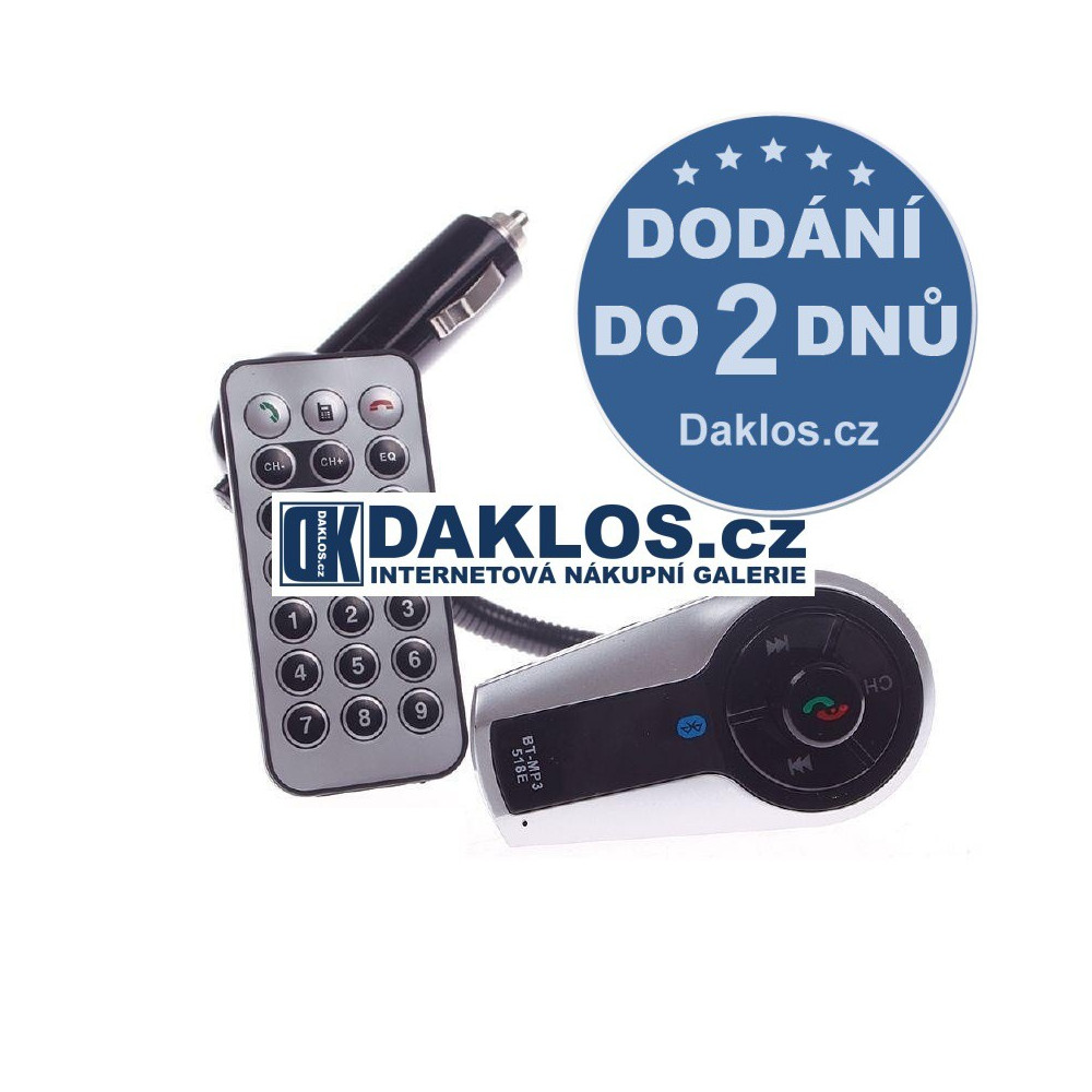 Bluetooth MP3 FM transmitter do auta / 12 V s dálkovým ovladačem / Hands-free DKAP044641
