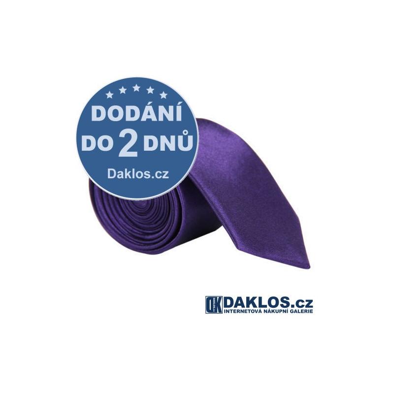 Luxusní tmavě fialová kravata - hedvábí / polyester DKC272057019923