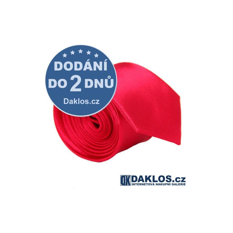 Luxusní tmavě růžová kravata - hedvábí / polyester DKC272057019923