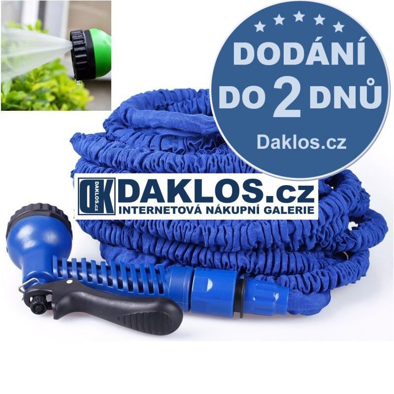 30m - Zahradní smršťovací hadice FLEXI s nástavcem, Barva Modrá DKAP050618