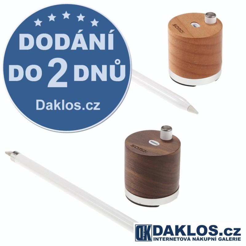 Exkluzivní dřevěný SAMDI nabíjecí stolní držák / stojánek na Apple iPad Pro Pencil, Barva Světle hnědá DKC361667112522