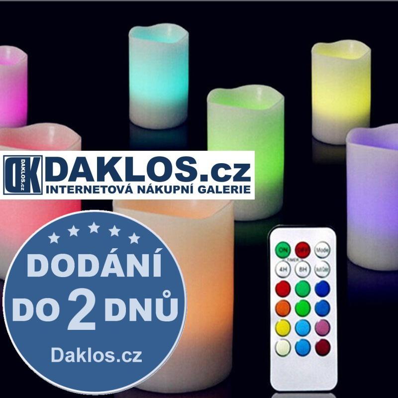 3 x LED elektronická romantická svíčka na dálkové ovládání s nastavením barvy DKAP069453