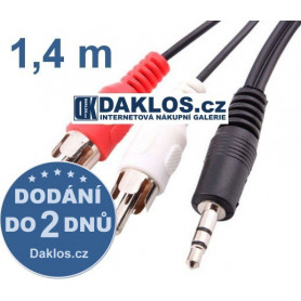 Audio kabel z 3,5 mm Jack do 2x RCA (CINCH)