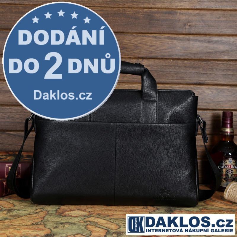 Kožená pánská černá taška / messenger / brašna z pravé kůže DKC391432122455