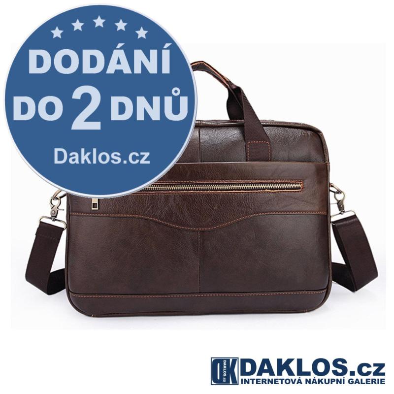 Kožená pánská hnědá taška / messenger / brašna z pravé kůže DKC201751334338