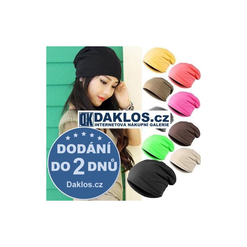 Unisex Hip-Hop zimní čepice - různé barvy, Barva Černá DKAP037410