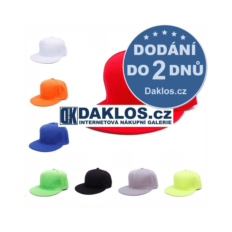Hip-hop Skate Baseball kšiltovka / skejťácká - 16 barev, Barva Černá DKAP046565