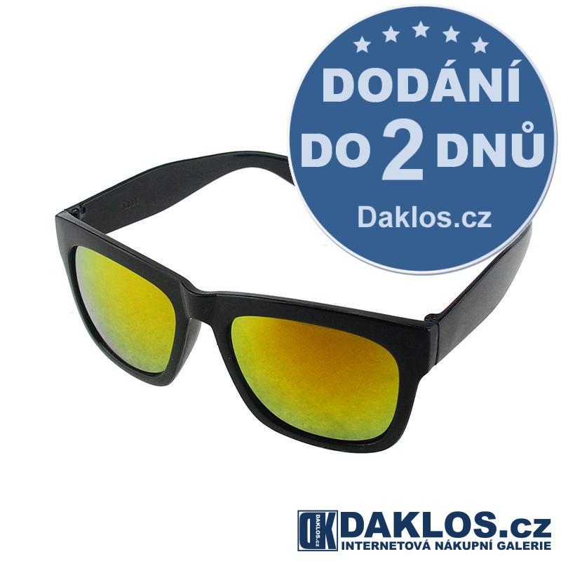 RETRO sluneční brýle s zlatými skly DKC162180135634
