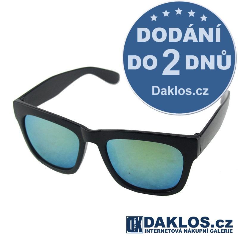 RETRO sluneční brýle s zelenými skly DKC162180135634