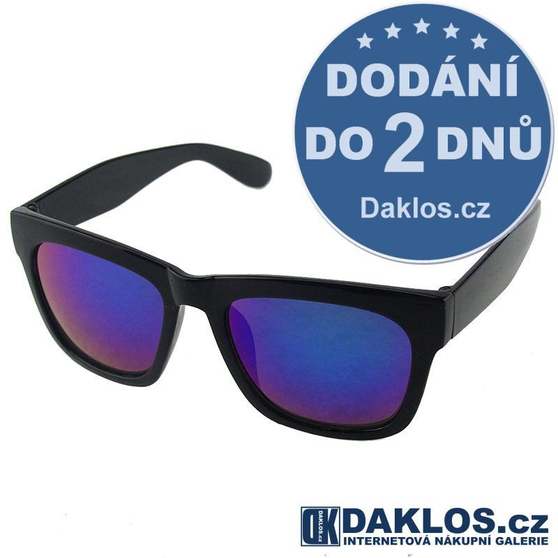 RETRO sluneční brýle s modrými skly DKC162180135634