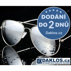Stříbrné sluneční brýle RETRO PILOTKY se stříbrnými skly