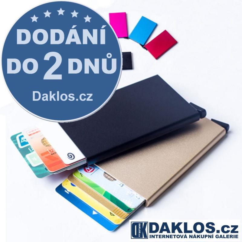 Kovové pouzdro na karty a doklady až pro 8 karet, Barva Černá DKC142316262458
