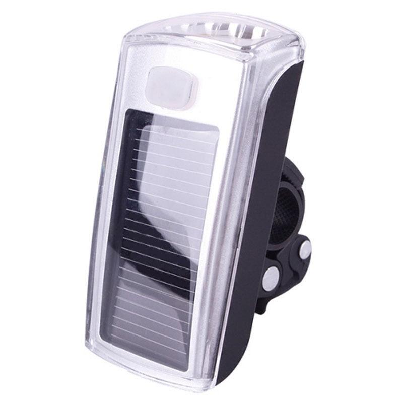Solární LED přední bílé světlo nejen na kolo s USB DKAP032513