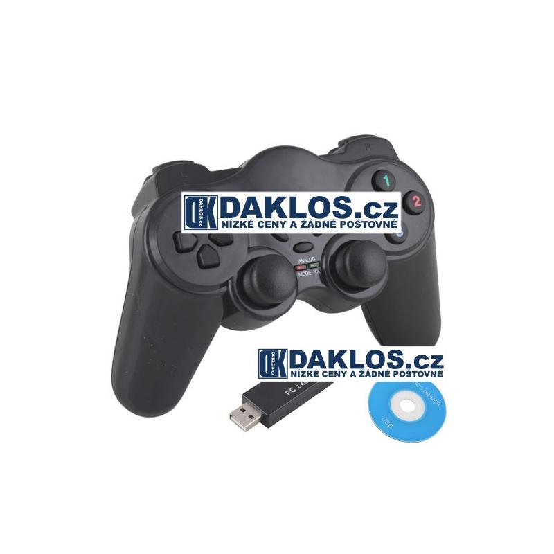 Bezdrátový ovladač pro hry - Dual Shock Gamepad / Joystick DKAP014793