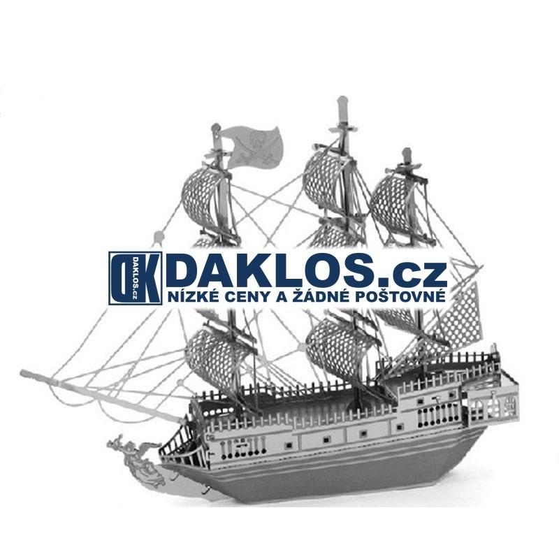 3D kovová stavebnice / puzzle - Loď / Plachetnice / kovové puzzle DKAP044590