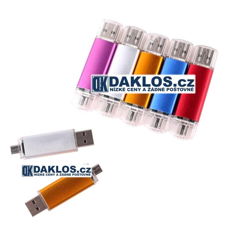 USB / Micro USB Flash disk OTG / Fleška 16 GB pro telefon i počítač DKAP045320