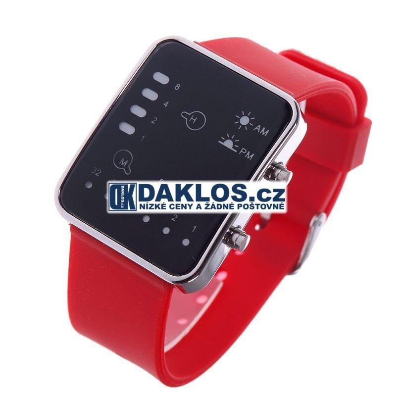 Moderní digitální LED hodinky - 2 barvy, Barva Modrá DKAP045448