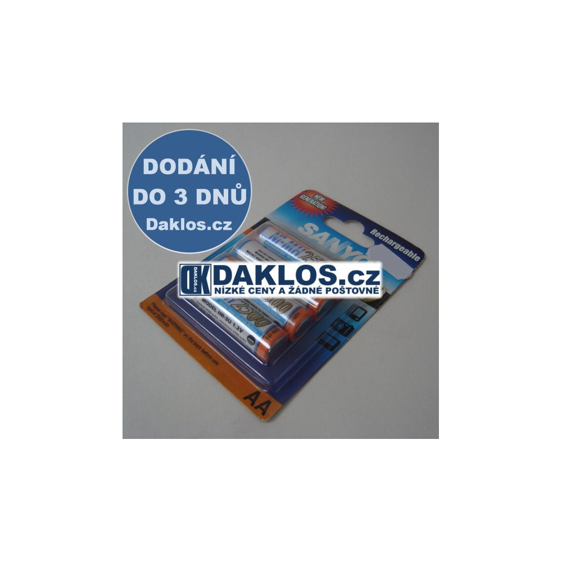 1x Nabíjecí AA baterie SANYO NiMH 2500 mAh / 1,2V - SUPERLATTICE ALLOY EVO DKD0000011