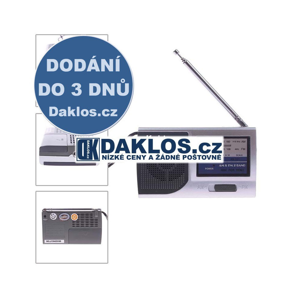 Přenosné mini AM FM radio DKAP048367