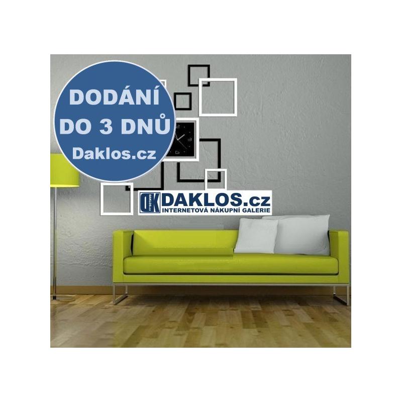 Nalepovací 3D čtvercové nástěnné analogové hodiny DKAP053890