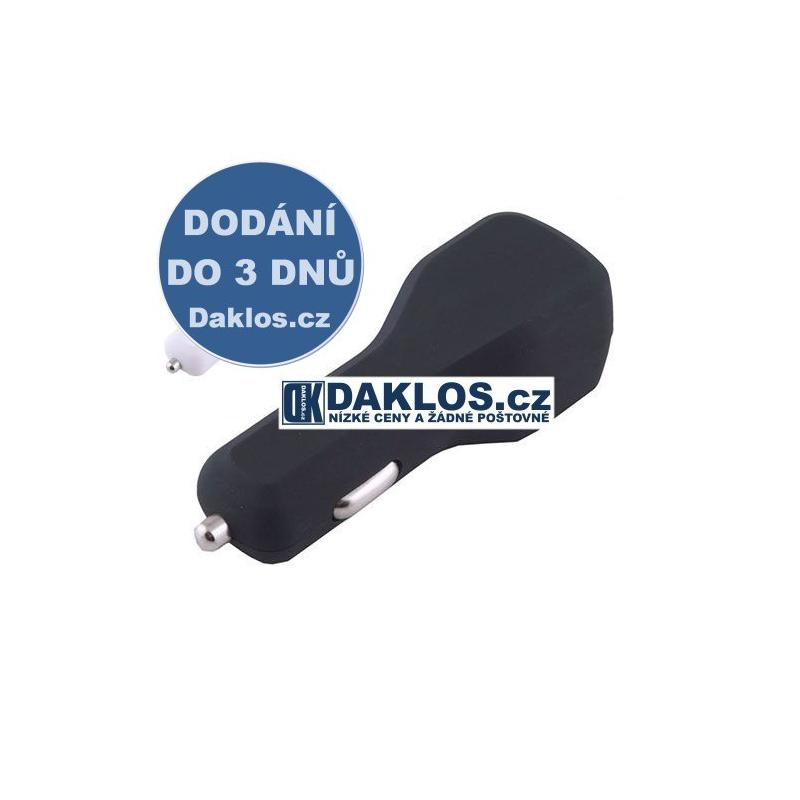 USB nabíječka do auta / 12V - bílá, černá, Barva Černá DKAP026991