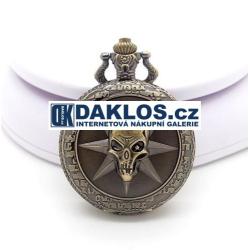 Kapesní přívěskové hodinky s lebkou