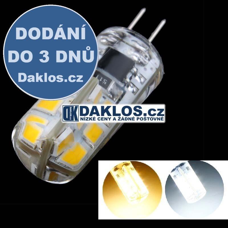 G4 / 3W / 24 LED / 12V / žárovka - teplá bílá a studená bílá, Barva světla Studená bílá DKAP046855