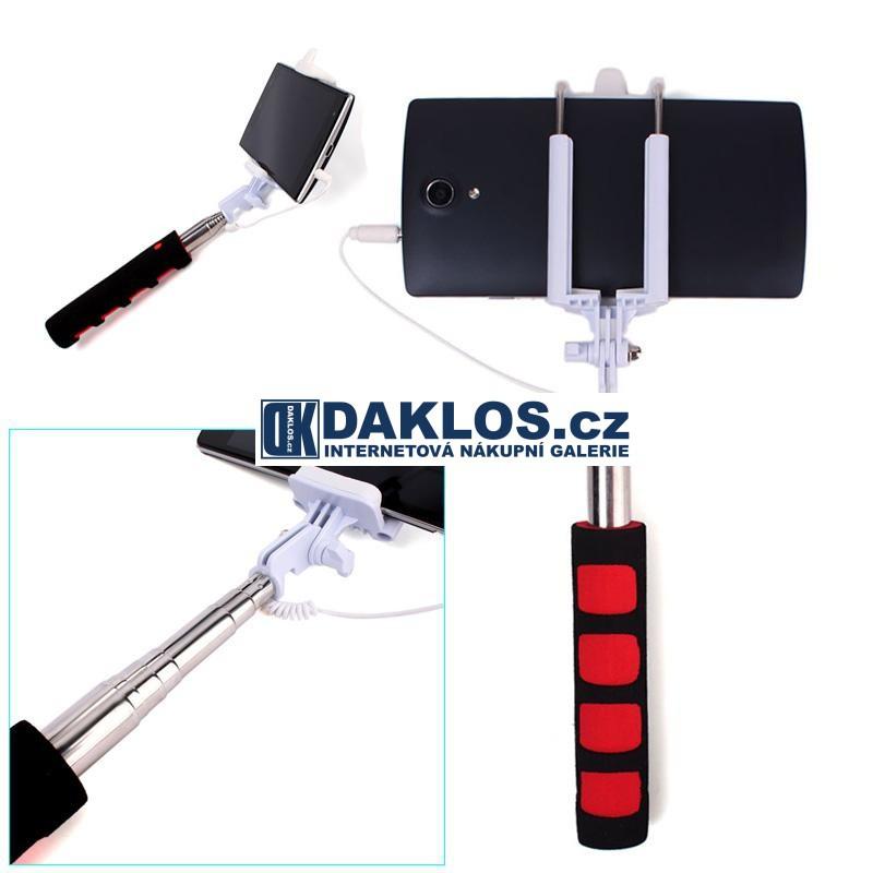 Stativ / selfie tyč pro telefon IOS / Android, Barva Zelená DKAP059238