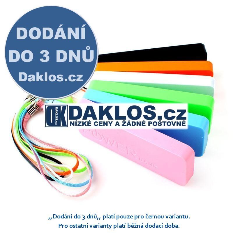 Externí USB nabíječka s 3000 mAh baterií / Baterie / Dokovací stanice, Barva Černá DKAP047175