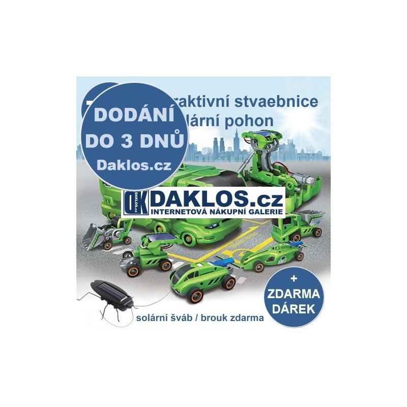 Interaktivní stavebnice / hračka 7 v 1 na solární pohon + zdarma dárek DKAP034220