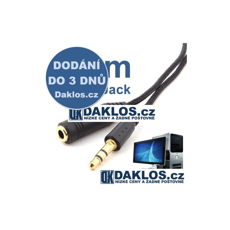 Prodlužovací audio kabel 1,5 m pro 3,5 mm Jack s pozlacenými konektory DKAP000860