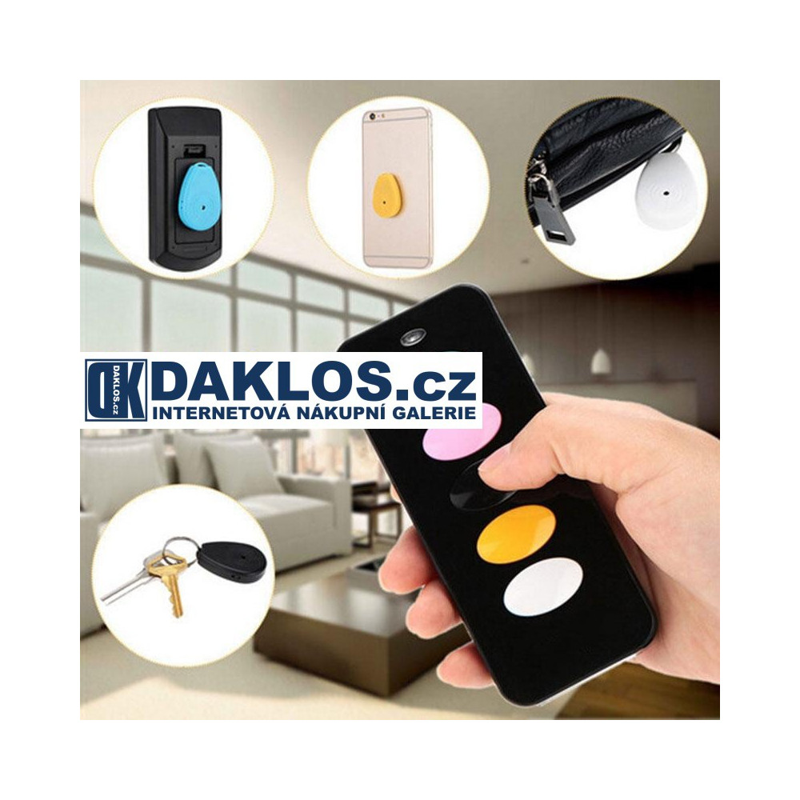 Sada pro vyhledávání nejen klíčů / hledač klíčů 5 v 1, Barva Černá DKAP070025