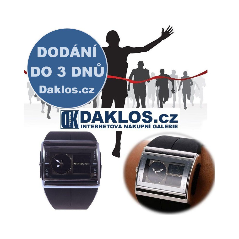 Digitální / Analogové voděodolné LED hodinky, Barva Černá DKAP048395