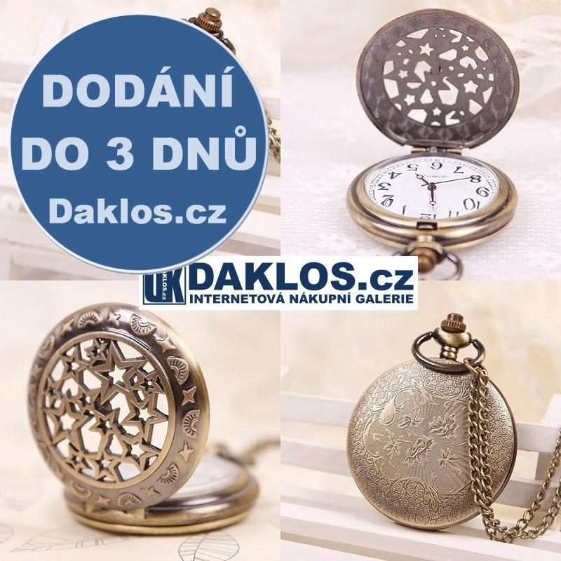 Kapesní retro přívěskové hodinky s hvězdičkami DKAP041443