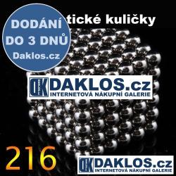 Magnetické kuličky - 3 mm - 216 kusů