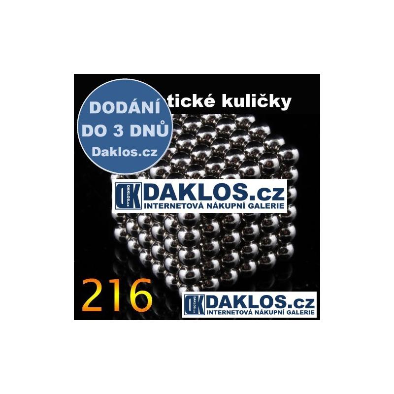 Magnetické kuličky - 3 mm - 216 kusů DKAP003291